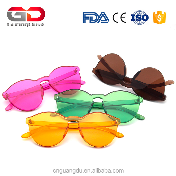 Fashion Women Sunglasses Cat Eye Shades Brand Designer Men Sun glasses Transparent Eyewear Candy Color Custom Logo Sunglasses
