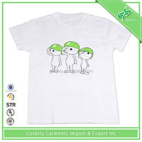 White 100% cotton cool boys summer t shirts Turbo cartoon kids t shirts