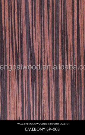 Keruing face ebony veneer for wooden decoration recon wood face in low price