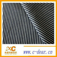 Best sale: popluar pinstripe fabric with black and white