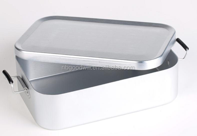 Outdoor camping lunchbox steaming picnic lunch box lunch box aluminum boxes