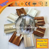 Hot!! alumimium roller/aluminium sliding door rail/powder coated anodized electrophoresis aluminium frame profile manufacturer