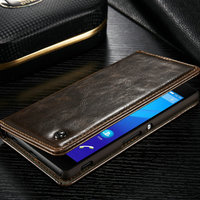 for Sony Xperia Z4 case, CaseMe Design Credit Card Wallet Stand Flip leather case for Sony Xperia Z4