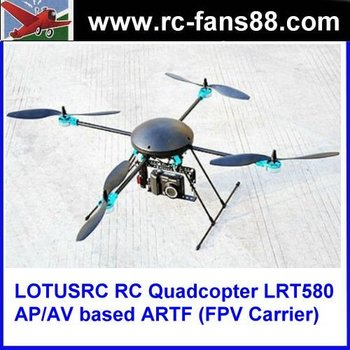 LOTUSRC RC Quadcopter LRT580 AP/AV based ARTF (FPV Carrier)