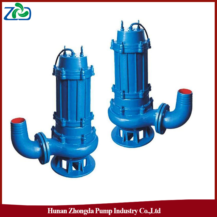 2015 ZHONGDA WQ Series Single-Stage Submersible Sewage Electric Oil Water Pump