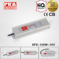 New Arrival 120w SFS-120-15 220 volt ac to 15 volt dc waterproof led driver psu 120w 8 amp led switching power supply
