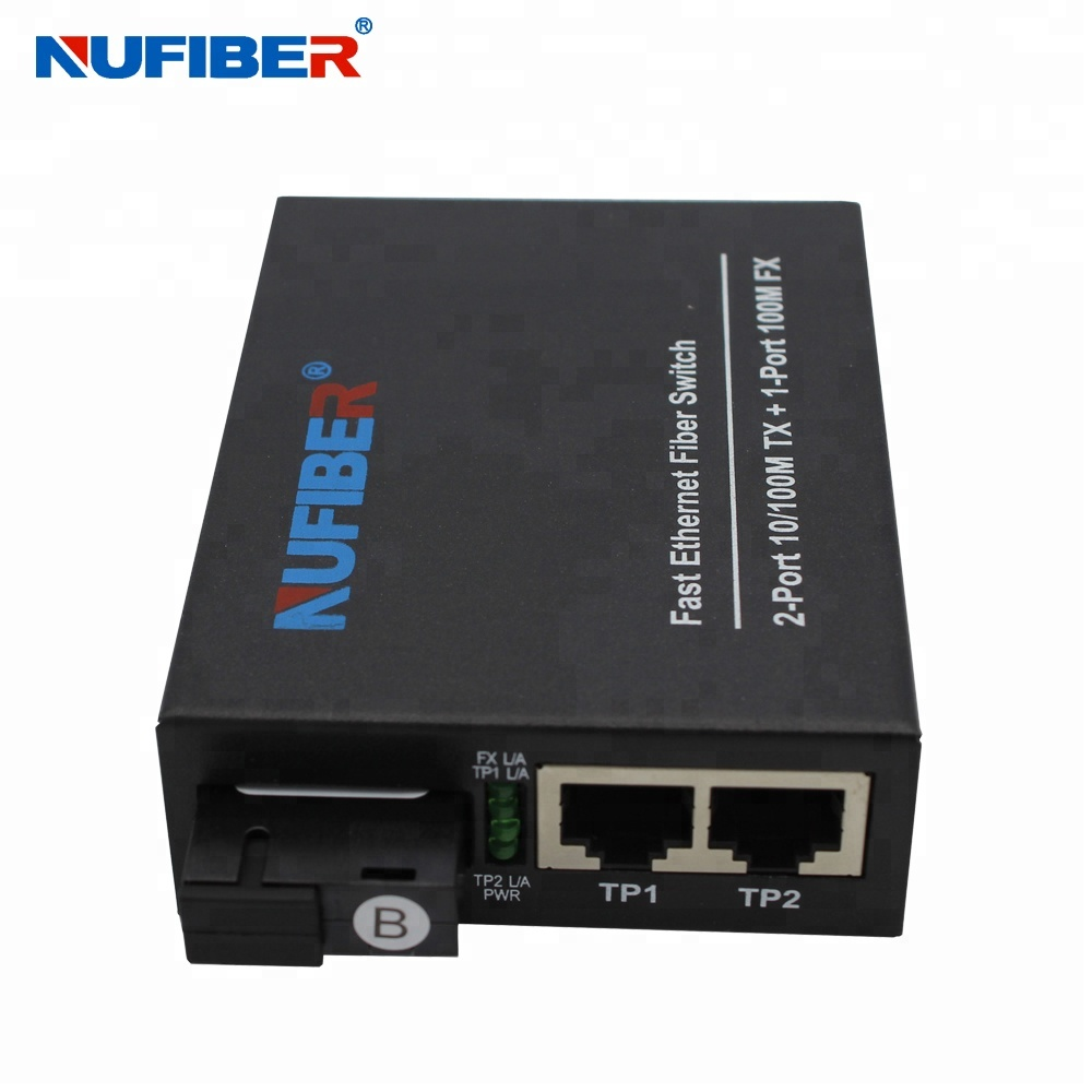Fiber Optical <strong>Network</strong> 100M 3 Port Simplex Switch Ethernet