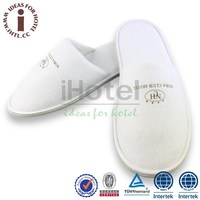 White Terry Cheap Hotel Slippers