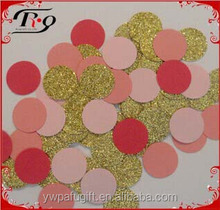 Wedding decoration round shaped multicolored Sprinkle paper confettii