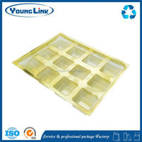 large square pet vegetable packaging clamshell