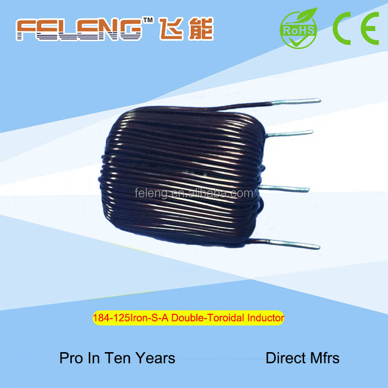 Factory OEM Choke coil wire wound high current iron silicon aluminum toroidal Inductor