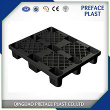 9 legs nestable single use cheap one way export black plastic pallet price