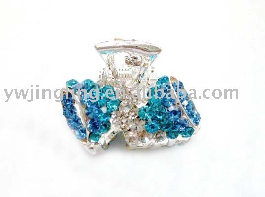 2011 latest crystal hair claw clip