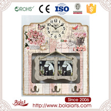 Square frame design hanging photo frame gift wall clock for coffee shop