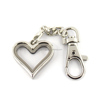 Wholesale Memory Glass Floating Heart Locket Key Chains