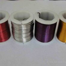 Color painted metal wire for for bundling, wrapping, wreaths, Christmas wreaths and craft work