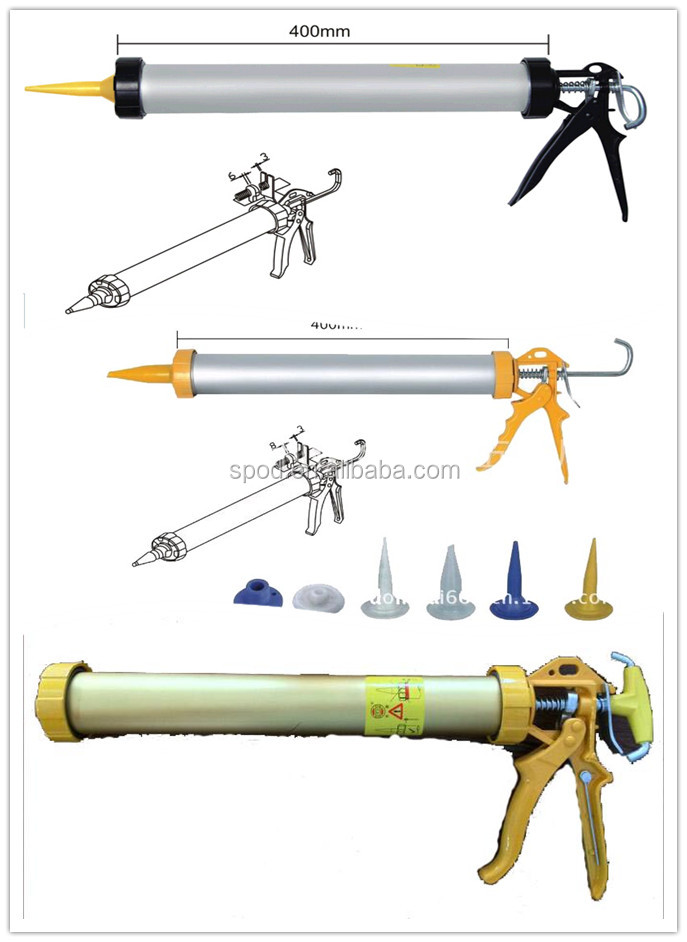 High quality aluminum tube caulking gun Sausage caulking gun