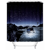 Factory direct sale high quality digital printing shower curtain/bathroom curtain