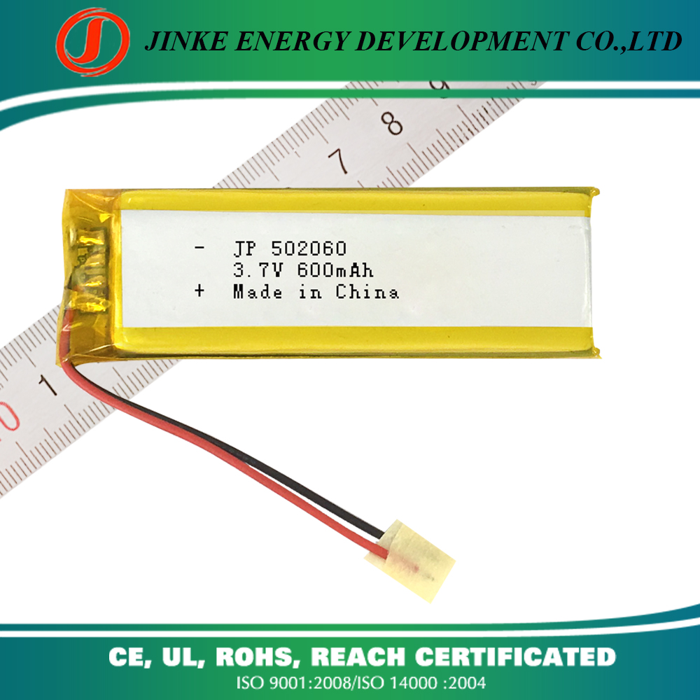502060 600mah 3.7V 2p 1200mah Lithium-ion polymer battery rechargeable lipo polymer 600mah 502060 3.7V battery