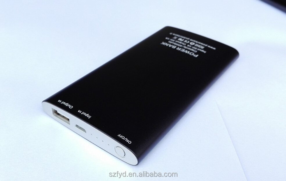 Shenzhen Friday Originality Ultra slim mobile power bank 5000 mah