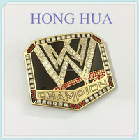 Zinc alloy High quanlity gold rhinestone belt buckle