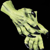 X-MERRY Three Colors Zombie Palm Gloves With Horror Nails Halloween Accessory Party Fancy Dress Costume/Toy