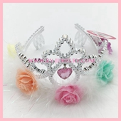 Kids Flower plastic crown new style to hot sales