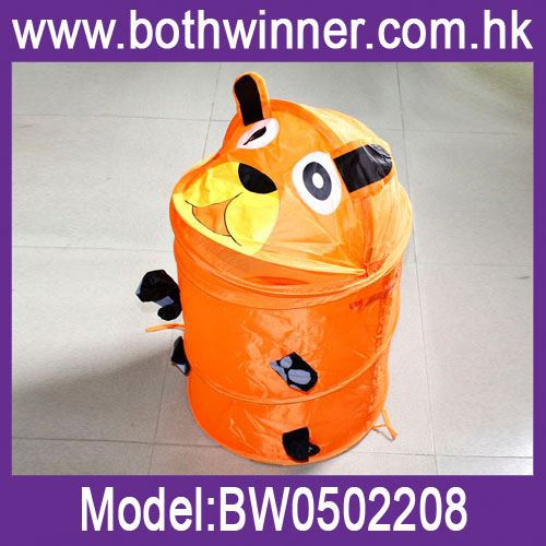 laundry hamper cart , H0T139 , laundry storage baskets , printed cartoon fabric laundry hamper
