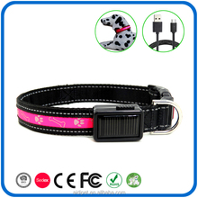Fantastic Nylon Webbing Warning Function Bright Led Flashing Dog Collar