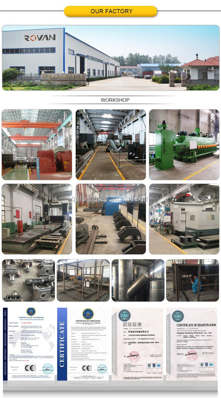 Large Grinder Machine for Steel Plate Surface Cleaning Treatment, rust removal blasting machine