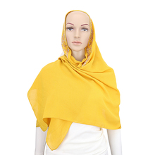 Yiwu Scarf Focus Fashion Muslim Malaysia Arab Hijab Wholesale Scarf Women Plain Cotton Hemp Scarf Hijab