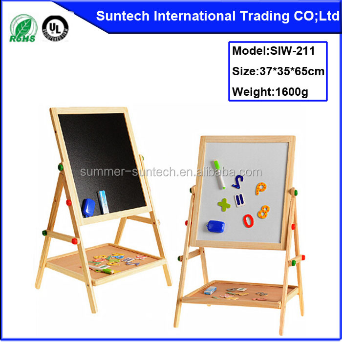 2015 New wooden kids double side draw board,popular wooden toy kids draw board for children,hot sale wooden kids draw board