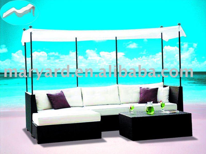 Canap d 39 ext rieur ensemble avec un rectangle canopy for Ensemble canape exterieur