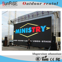 P10 outdoor SMD rental LED display LED screen manufacture advertising full color for rental