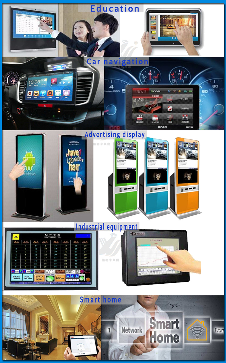 "21.5"" Projected Waterproof EETI  Controller G+G Factory Stock Capacitive Touch Panel With USB"