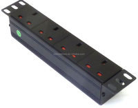 "10"" 1U 4 Way Rack Mount Power Distribution Unit PDU For Data Lan Cabinet Switch"