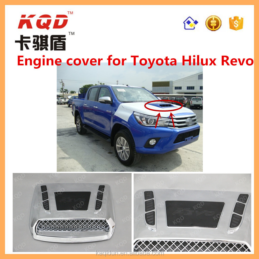 fashion style chrome two colors engine cover for toyota hilux revo 2015 accessories used toyota hilux pickup