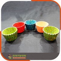 Colorful Food Grade Cheap Melamine Plastic Sponge Cake Cupcake Cups