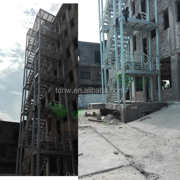 outdoor metal staircase used stairs industrial steel stair hot galvanized staircase