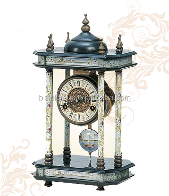 Replica Antique Art Clock Home Decorative Cloisonne Enamel Table Clock For Sale