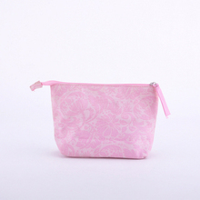 plain quilted cosmetic bag and make up bag for lady