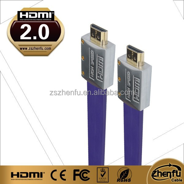 high end hdmi flat cable 1.4 version ABS Metal Shell premium quality 2015