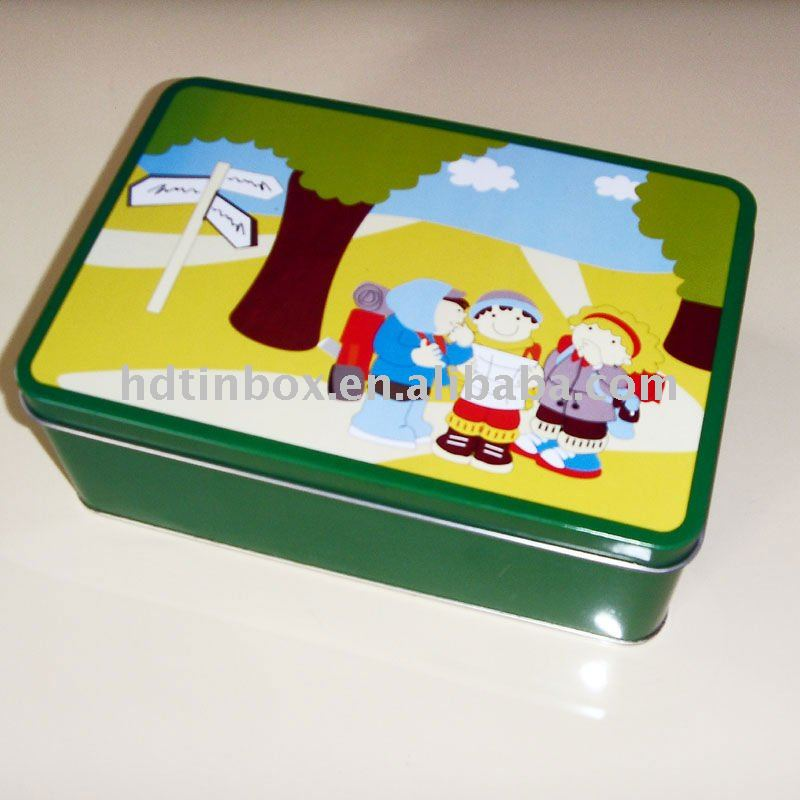 Metal cookie packaging tin box can