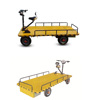Customized Warehouse 1.5m 2m and 2.5m Electric Goods Carrier Cargo Trolley/ 25km/h Platform Wagon Cart With Battery