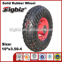 High quality solid rubber wheel 16x4.00-8