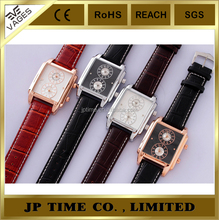 quamer watch dual time two time zone quartz watch fashion women men watch
