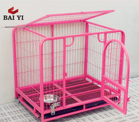 Colorful & Durable Square Tube Dog Breeding Cage With Plastic Wheels (Direct Sale)