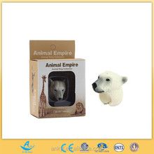 cheap plastic animal for kids pvc vinyl toy factory polar bear rings