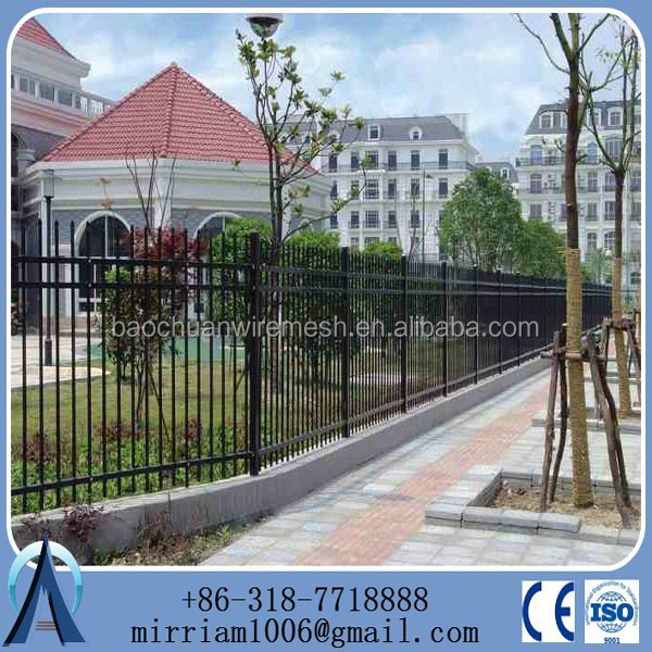 Fence wrought iron / fence lattice panels / ornamental steel fencing