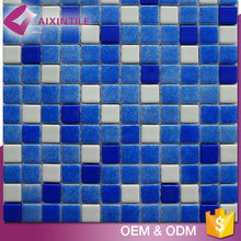 Building Decorative Mirror Blue Crystal Glass Mosaic Tiles